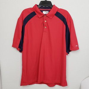 Grand Slam golf polo red blue size XL